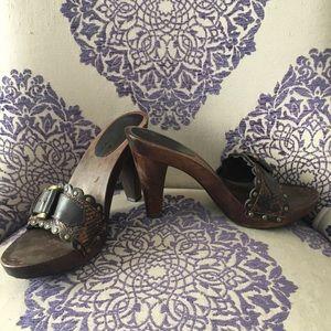 Mia Wooden High Heel Sandal